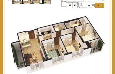 Chi tiết thiết kế của căn 3 ngủ chung cư ban Cơ yếu Chính Phủ